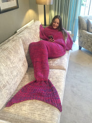 Mermaid Blanket Pink Wool