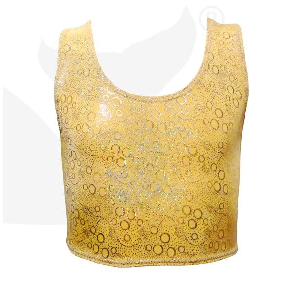 Aurelia's Gold Bubbles 3pc Mermaid Outfit - Inc Tail, Top and Monofin