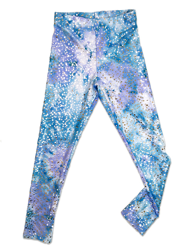 arabella's moon violet leggings flat by uramermaid