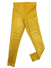 aurelia's gold bubbles leggings flat by uramermaid.com