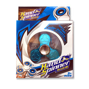 Fluid quality metallic Fidget Hand Spinner toys in Turquoise. Comes with a stylish blue presentation box.