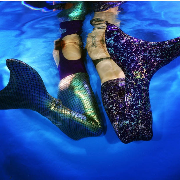 Metallic Aqua Green Mermaid Tail With Holographic Scales, Includes The Olympic Monofin