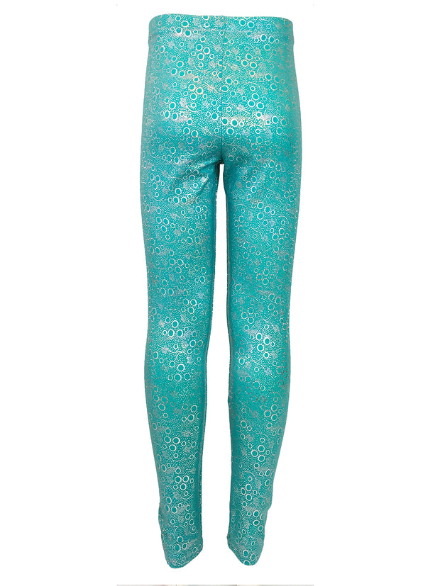Jessica's Jade Bubble Leggings back by Ura Mermaid