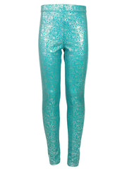 Jessica's Jade Bubble Leggings front by Ura Mermaid
