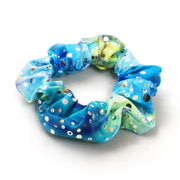 Hannah's Barbados Green Holographic Hair Scrunchie
