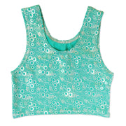 Mermaid Costume Crop Top in Jessica's Jade Bubbles by UraMermaid.com