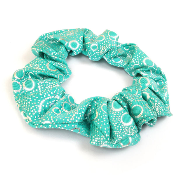 Jessica's Jade Green Bubbles Holographic Hair Scrunchie