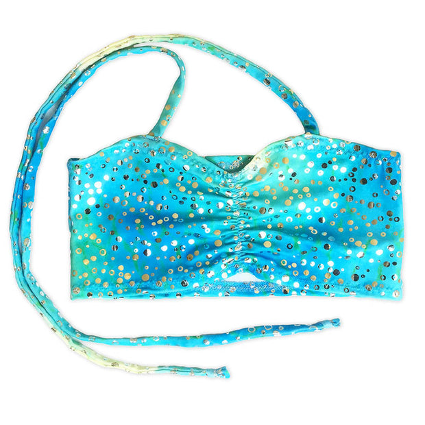 Mermaid Costume Bra Top in Kalani's Bahama Blue by UraMermaid.com