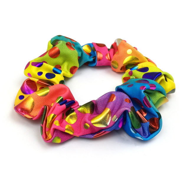 Rihanna's Rainbow Bubbles Holographic Hair Scrunchie