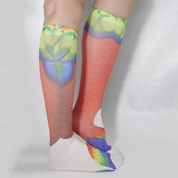 Red Scales Mermaid Socks