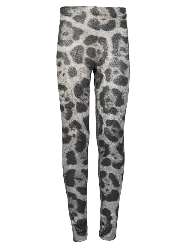 Snow Leopard Print Leggings by Uramermaid.com