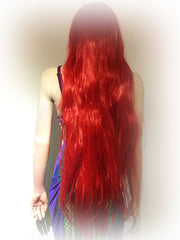 Luscious Long Scarlet Curly Red Mermaid Wig