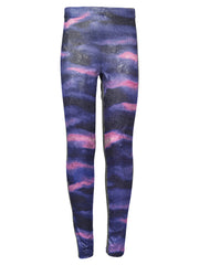 Tie Dye Blue Pink Leggings by Ura Mermaid