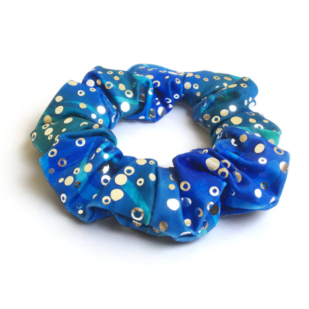 Estelle's Ocean Blue Holographic Hair Scrunchie