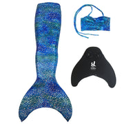 Estelle's Ocean Blue Kids Mermaid Tail, Top & Olympic Monofin
