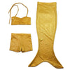 Mermaid Tail Beach Costume PlayTail Set in Aurelia Gold bubbles