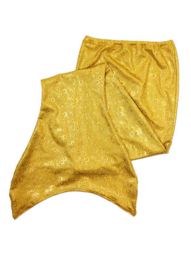 Aurelia's gold bubbles mermaid tail for kids by ura mermaid - skin only