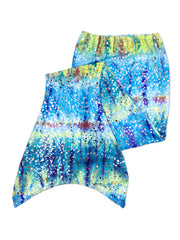 hanna's barbados grren mermaid tail for kids by ura mermaid - skin only