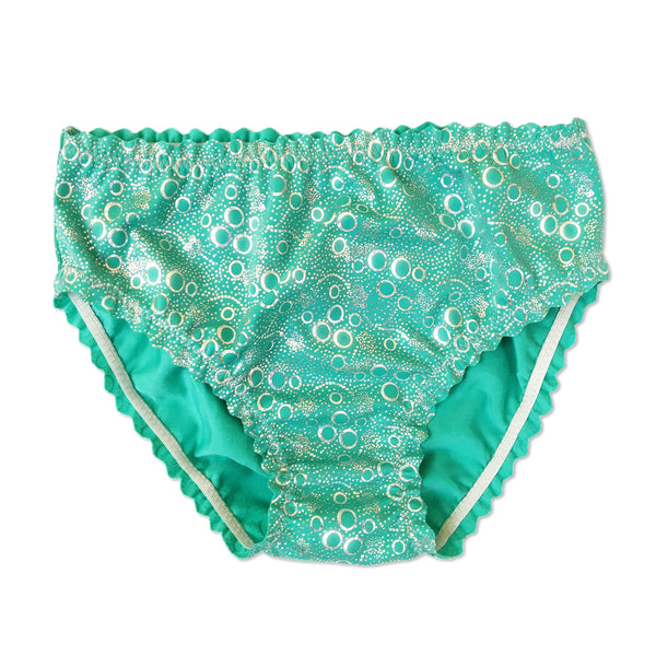 Jessica's Jade Green Bubbles Mermaid Costume Briefs