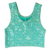 Jessica's Jade Green Bubbles Mermaid Crop Top
