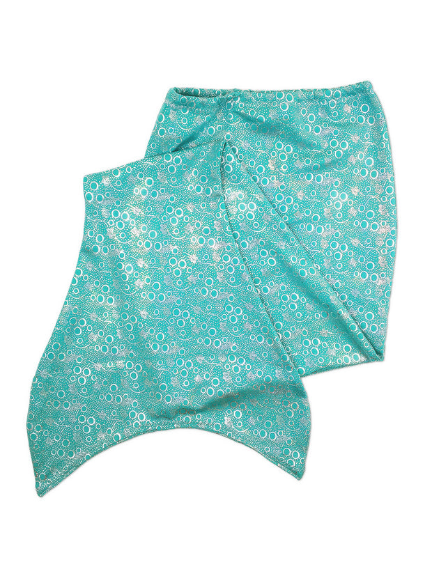 Jessica's jade green mermaid tail for kids by ura mermaid - skin only
