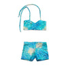 Uramermaid's Hot Pants set. Dancewear Shorts with Bikini Bra Top in Kalani's Bahama Blue fabric.