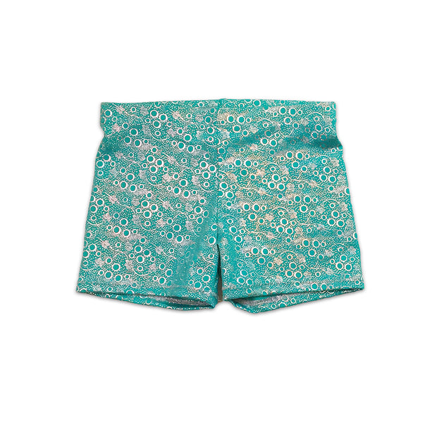 Jessica's jade bubbles dancwear hot pant shorts by UraMermaid.com
