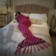 Malibu Pink Mermaid Tail Blanket For Kids And Adults