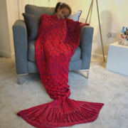 Red Mermaid Tail Blanket For Kids And Adults