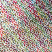 uramermaid rainbow white mermaid blanket close up
