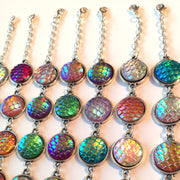 Mermaid Scales Rainbow Charm Bracelet For Kids / Adults