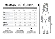 UraMermaid Mermaid Tail Size Chart