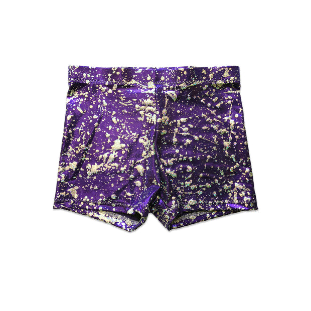Purple Dancewear Hot Pant Shorts - by UraMermaid.com