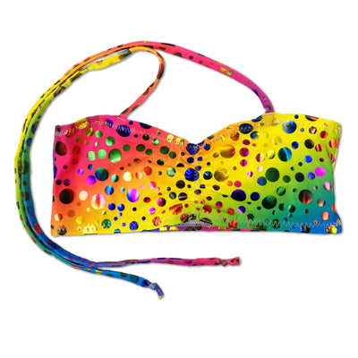 Rihanna's Rainbow Bubbles Kids Bikini Top