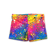Hot pant shorts dancewear in Rihanna's reainbow bubbles by UraMermaid.com