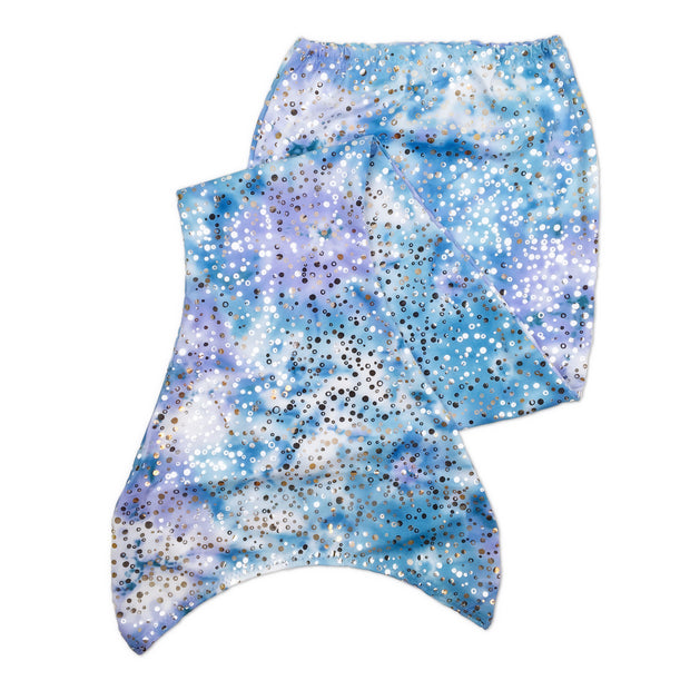 Flat Olympic kids arabella violet mermaid tail skin by ura mermaid