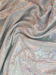 markle's silver sparkle glitter mermaid tail swatch - the royal selection