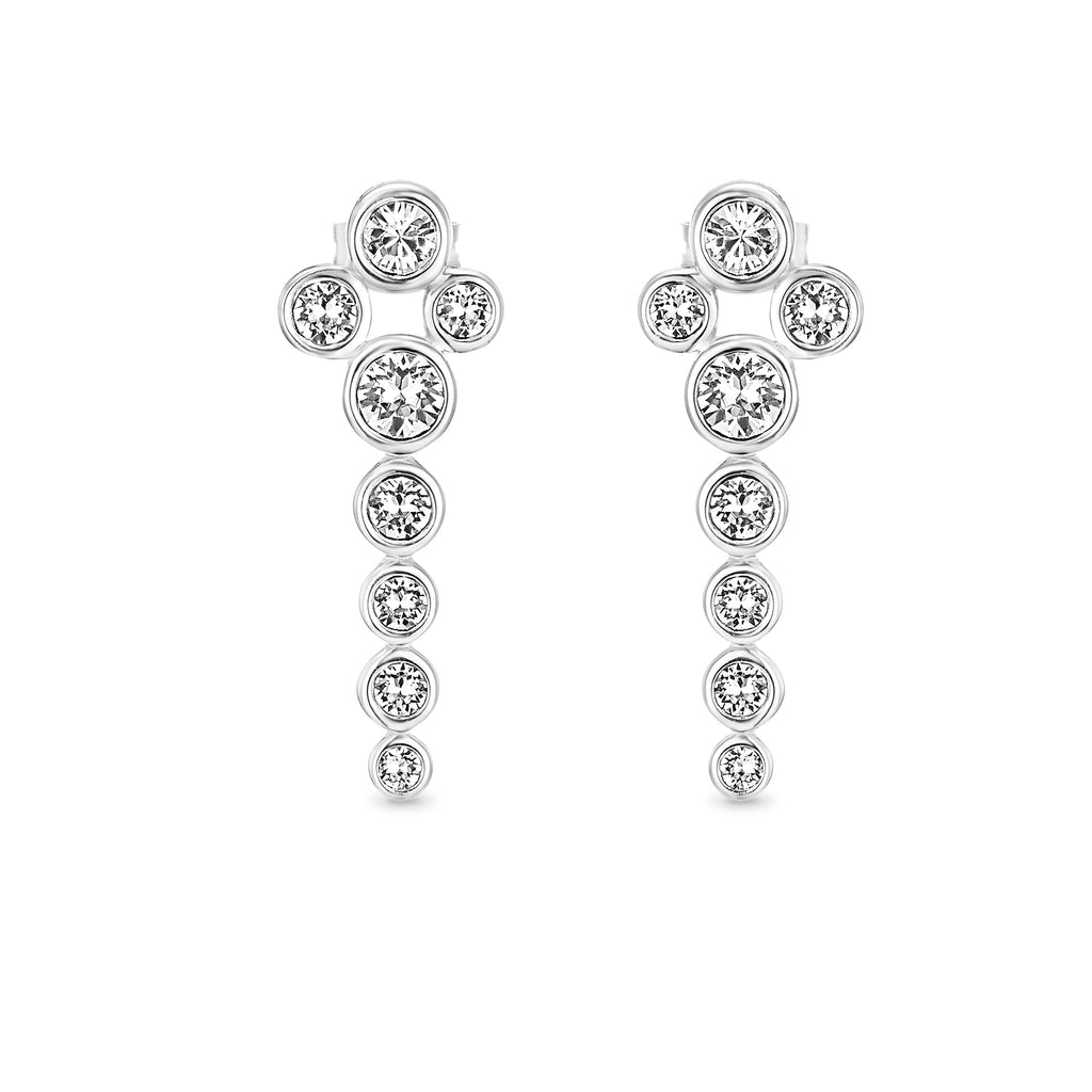 124cc983f ... Dhia Waterfall Earrings in Sterling Silver Made with Crystals from  Swarovski ...