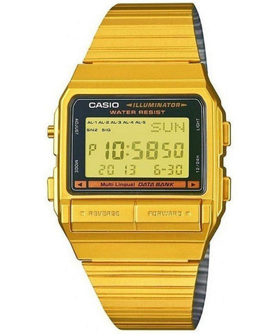 Casio Digital 5 Alarm Multi-Lingual Data Bank DB-380G-1DF DB-380G-1 Men's Watch