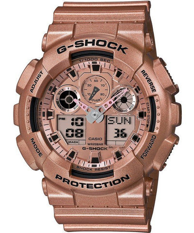 Casio G-Shock Analog Digital Rose Gold-Tone GA-100GD-9A Men's Watch