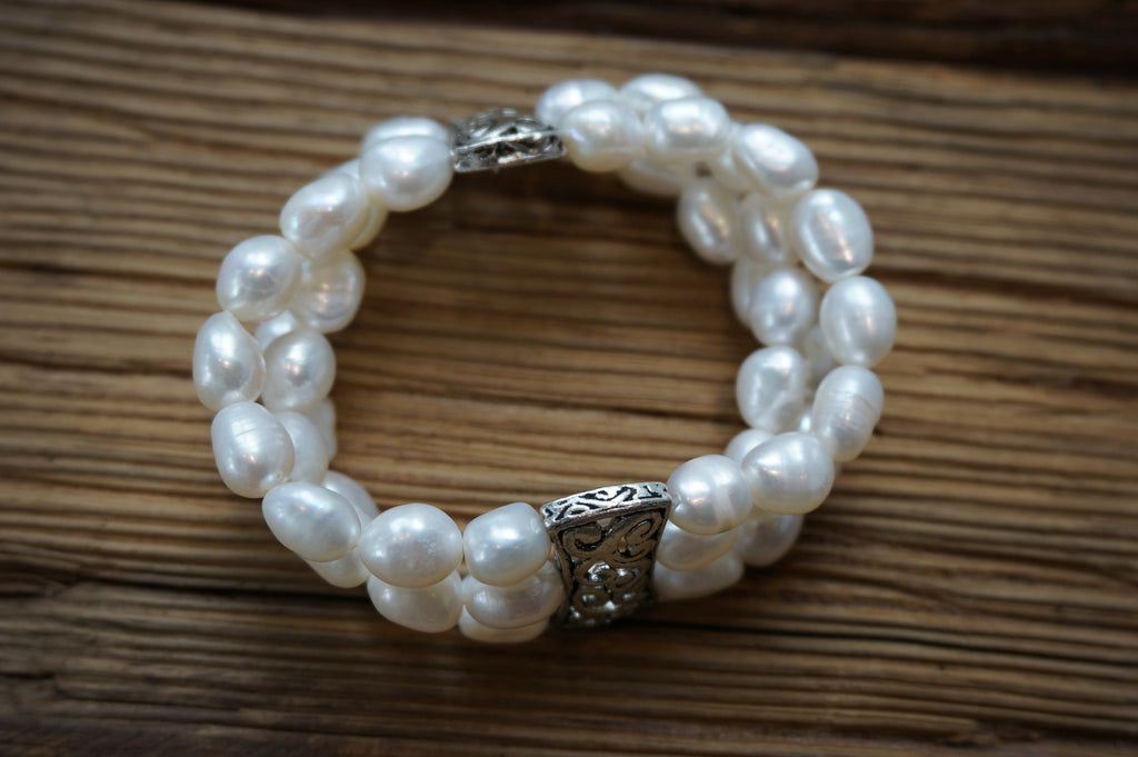 Triple Strand Stretch Bracelet - Pearls4Girls