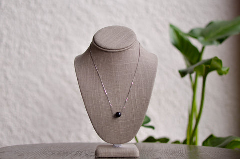 Dark Pearl Drop Necklace