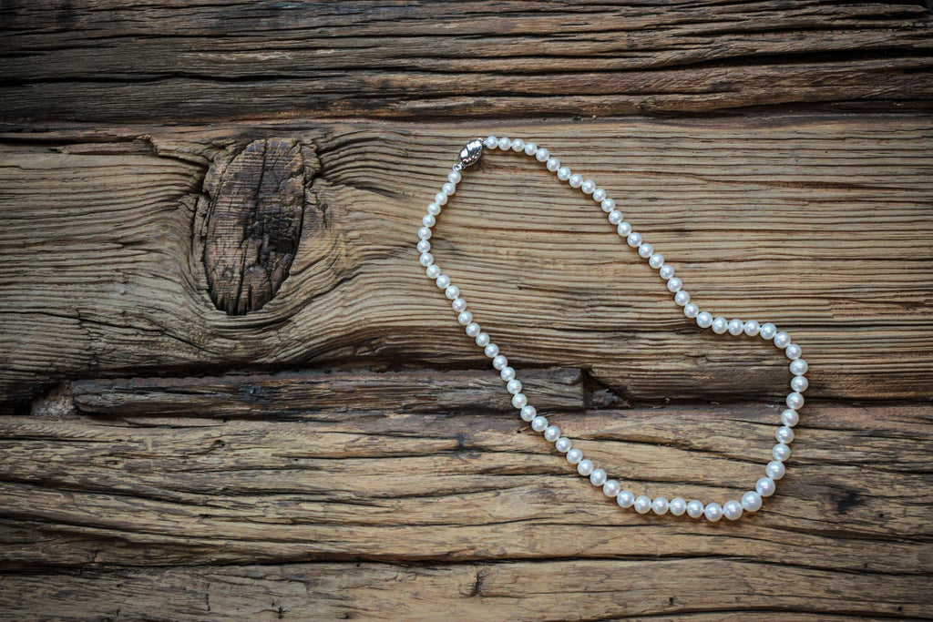 Graduated White Pearl Necklace - Pearls4Girls