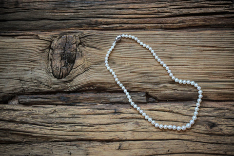 Floating Pearl Necklace - White
