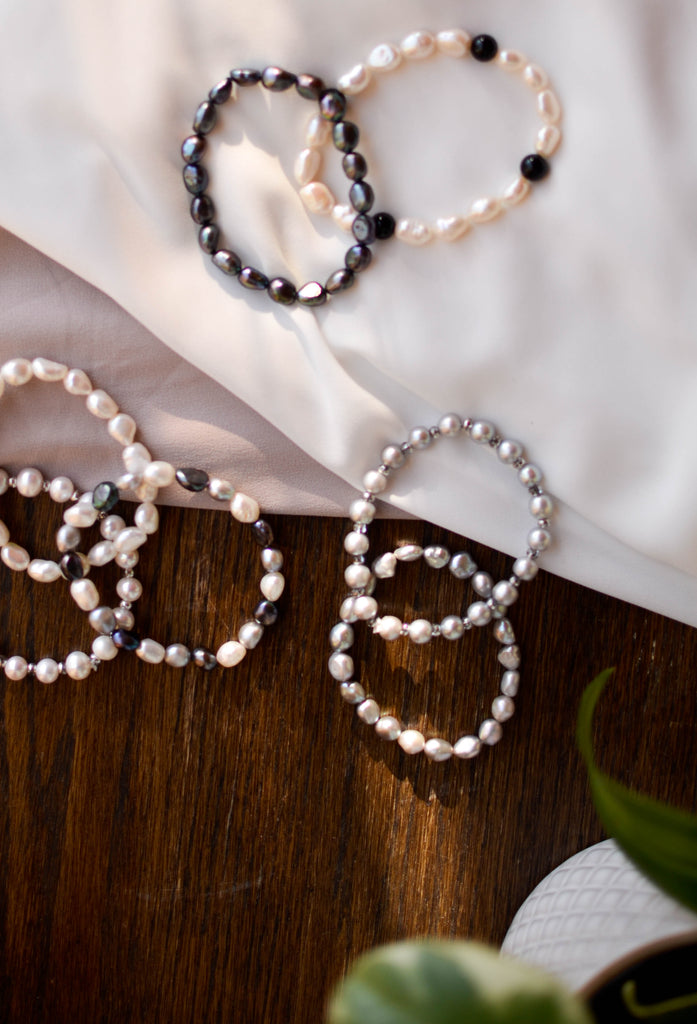 Signature Bracelet - Grey - Pearls4Girls