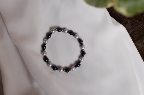 Signature Bracelet - Black and White