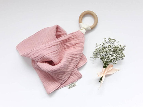 Blush Pink muslin cloth comforter by Pure Cotton Studio available at Wonder of Kin
