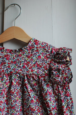 Flutter Sleeve Frou Frou Floral Blouse by The Old Rectory Clothing Co.