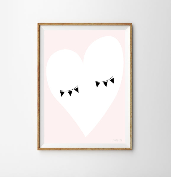 Eye heart nursery print from Munks and Me. Available from Wonder of Kin - Curating Independent Brands.