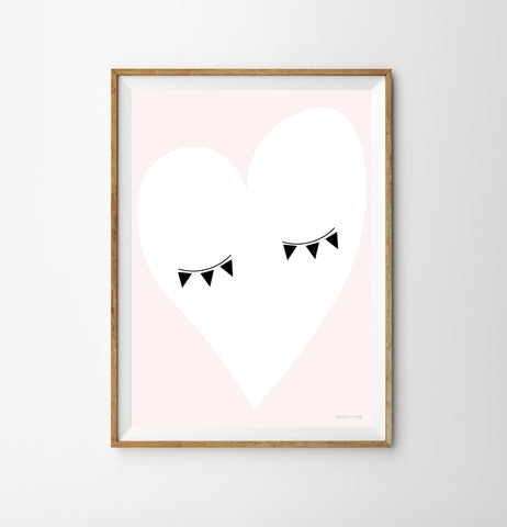 Eye Heart Nursery Print by Munks & Me